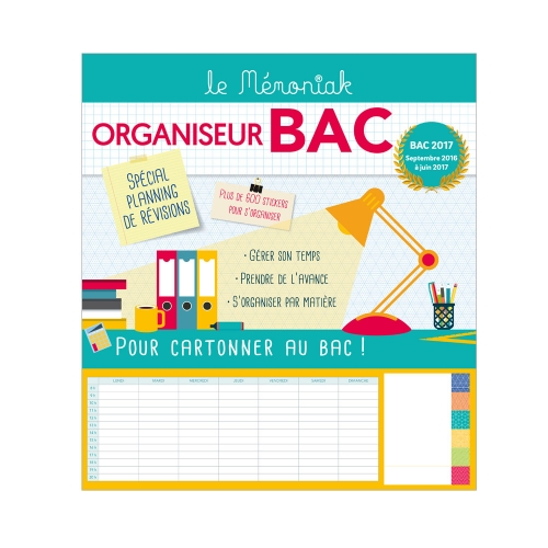 Memoniak Organizer for French Baccalaureat 2016-2017