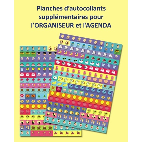 Stickers for Mémoniak Family organizer and diary 2016