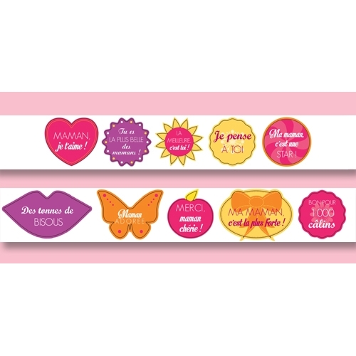 Dispenser of love stickers for mummy