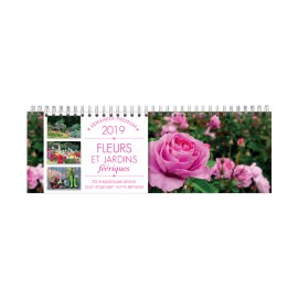 Weekly calendar of enchanted flower and garden 2019
