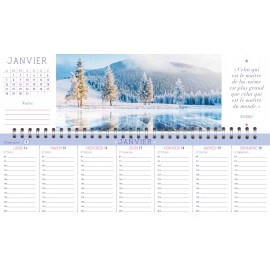 Weekly calendar of positive thoughts 2019