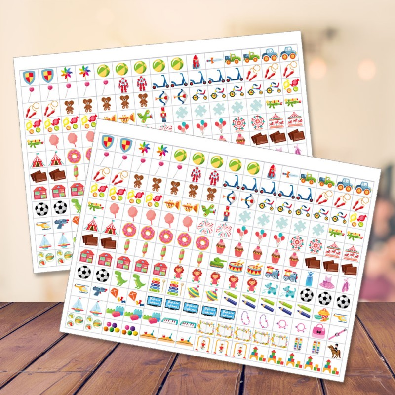 Additional stickers sheets for Mémoniak Family Organizer - A year of organization and serenity with Femme Actuelle