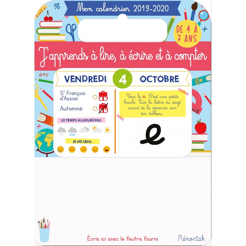Calendrier Avent Kinder 2020.My Calendar Memoniak 2019 2020 I Learn Spelling Wrinting And Counting