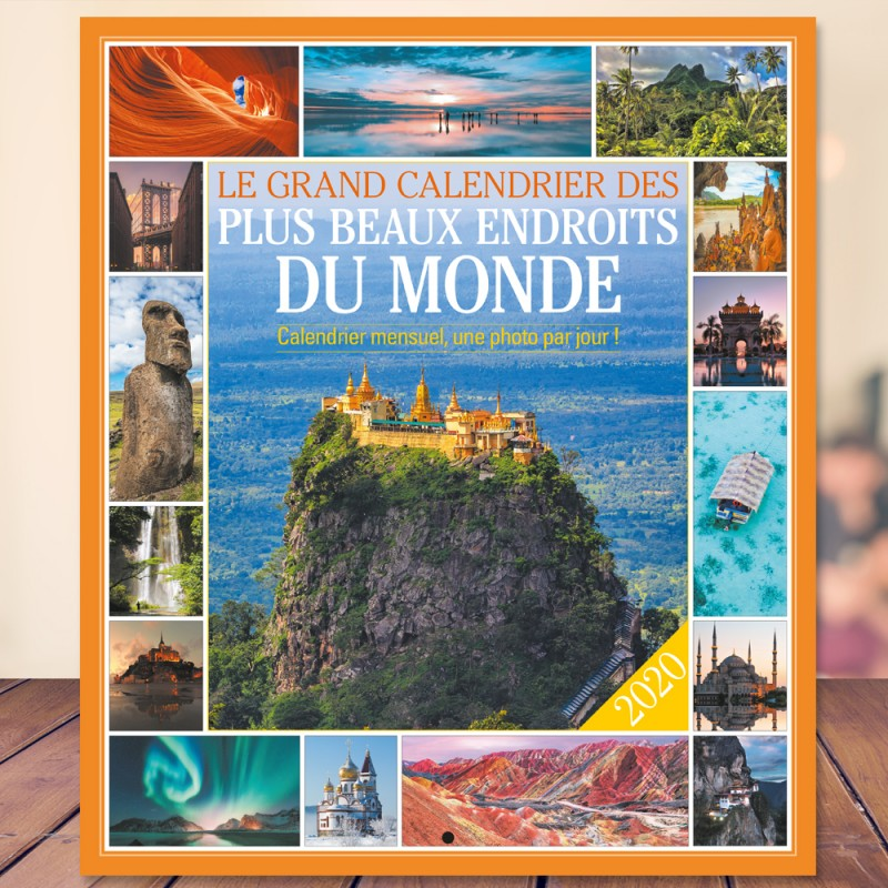 Big wall calendar of the most beautiful places in the world 2017