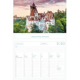 Panoramic calendar Wonders of the world  2020