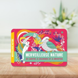 Wonderful nature - my 20 cards to color and send