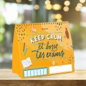 Weekly planner Keep calm and work your exams
