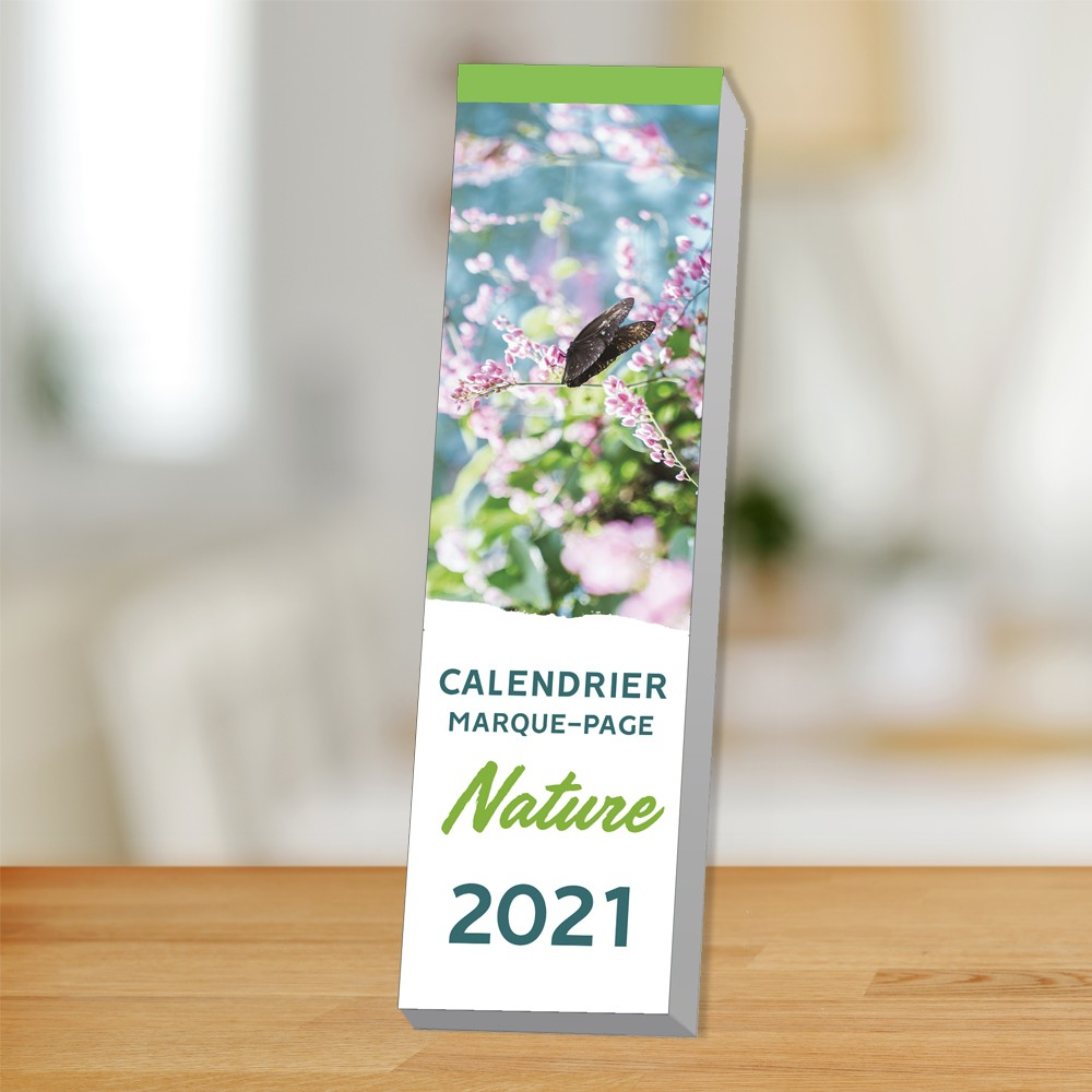 Calendriers petit format : Le calendrier marque page Nature 2021