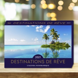 Panoramic calendar dream destinations 2021