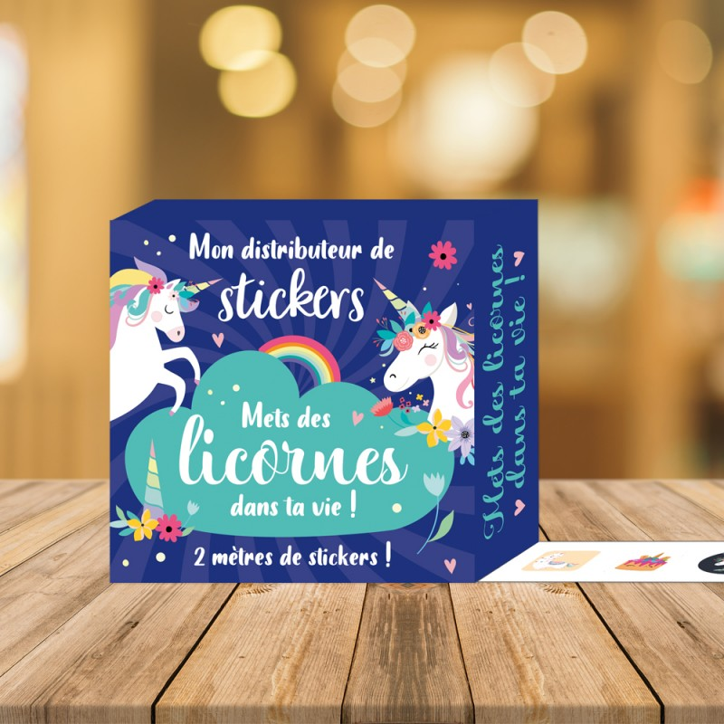 My sticker dispenser - Put unicorns in your life!