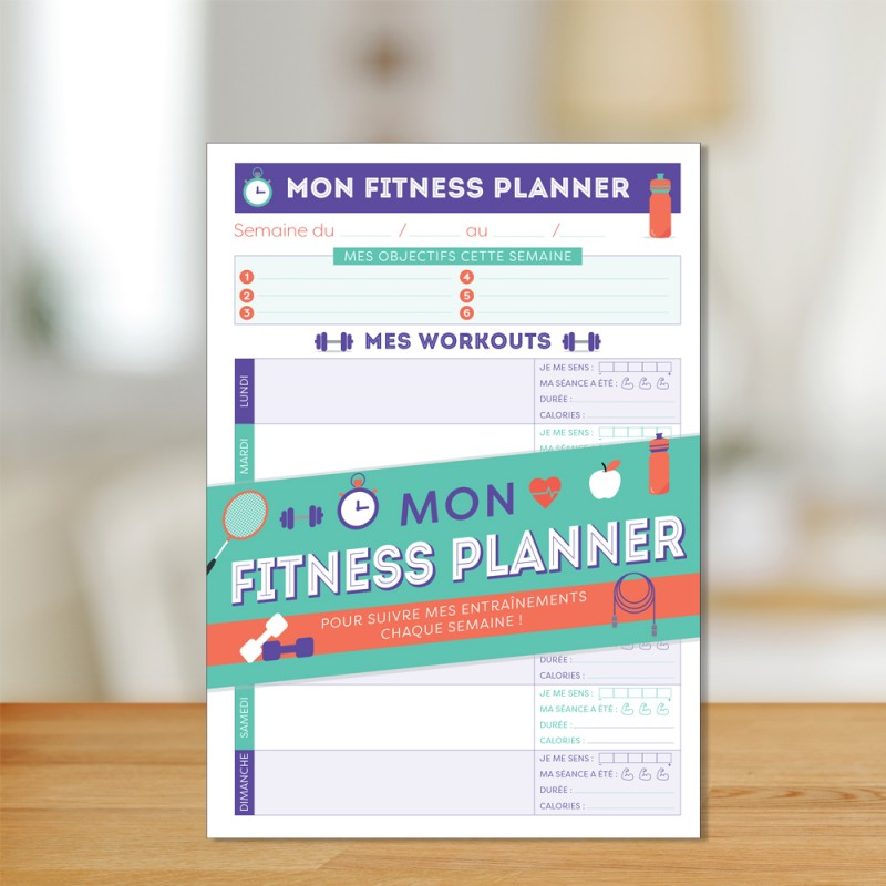 My fitness planner to follow my workouts every week!