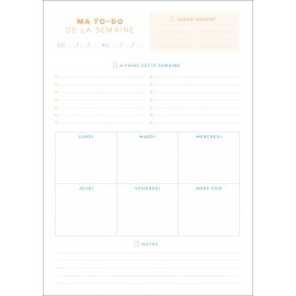 WEEKLY TO-DO LISTS BLOCK