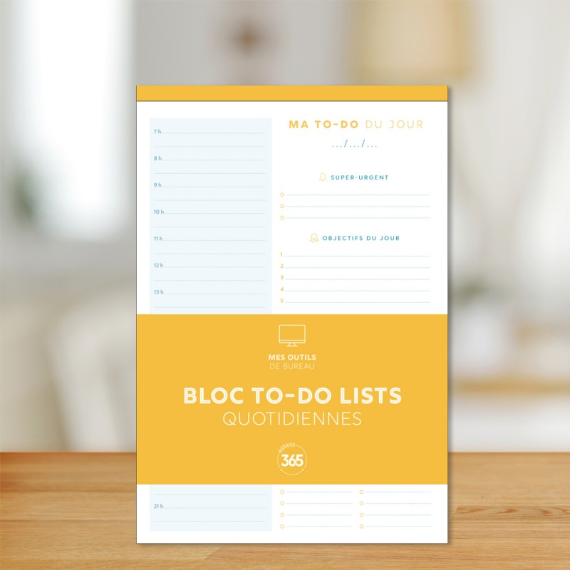 Block of daily to-do lists