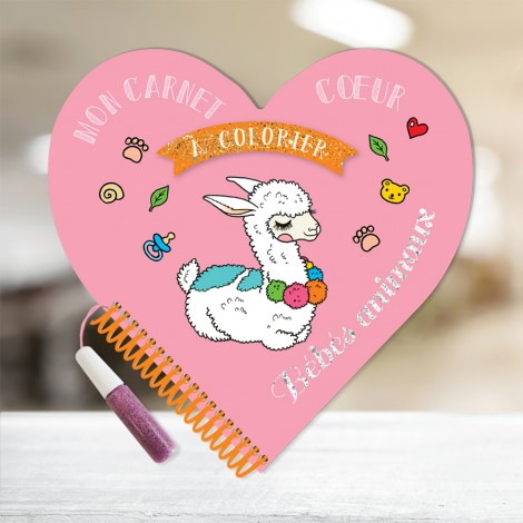 My Heart Baby Animal Coloring Book